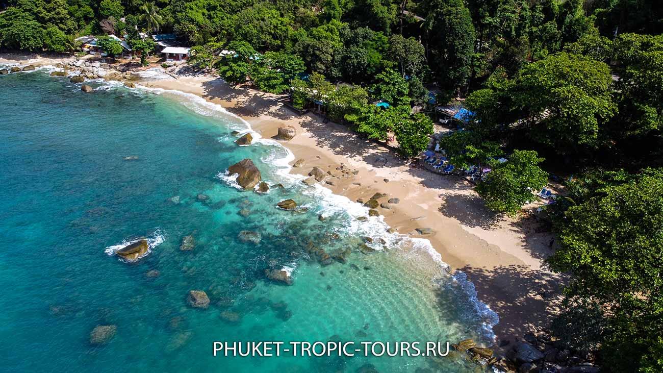 Пляж Ао Сан на Пхукете - вид сверху фото 13