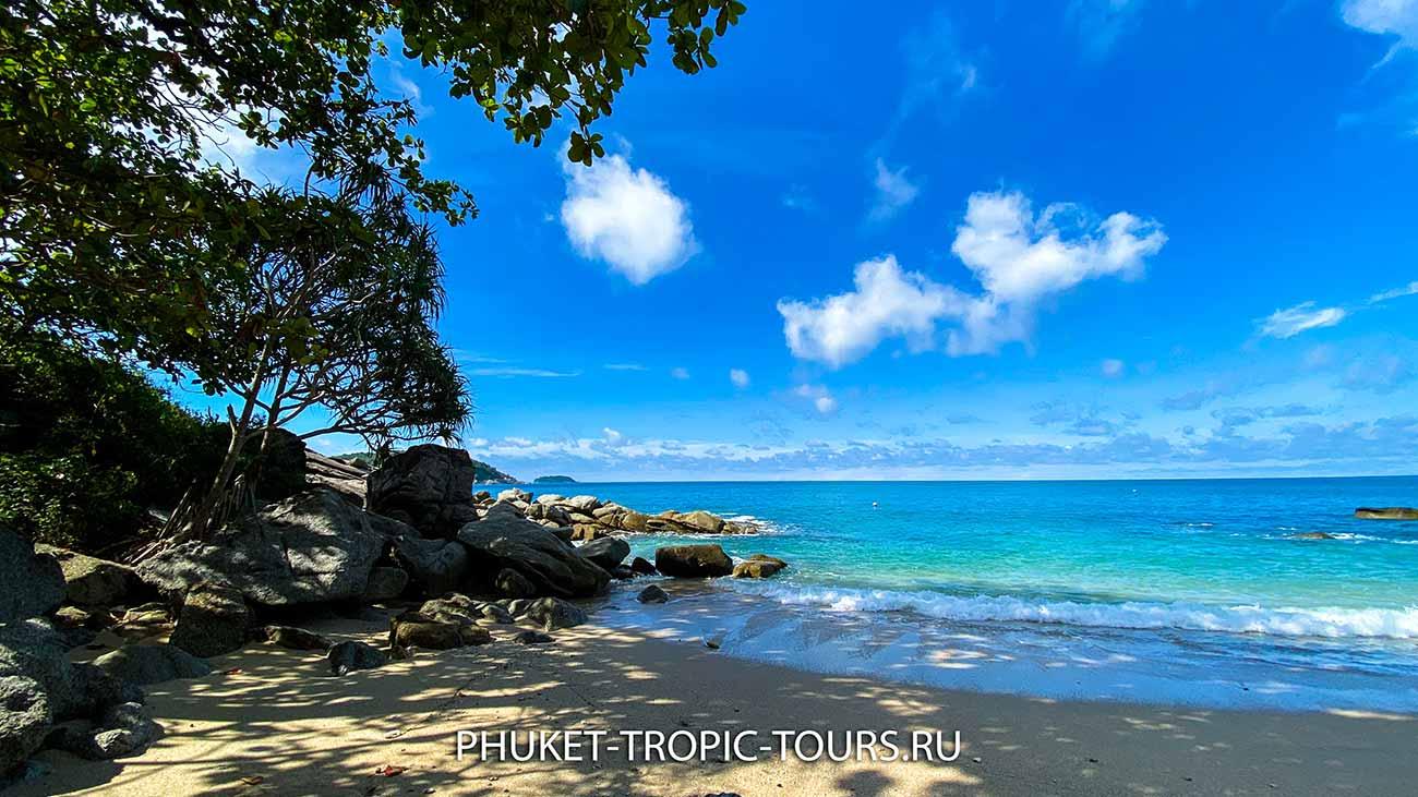 Пляж Ао Сан на Пхукете - вход в море фото 11