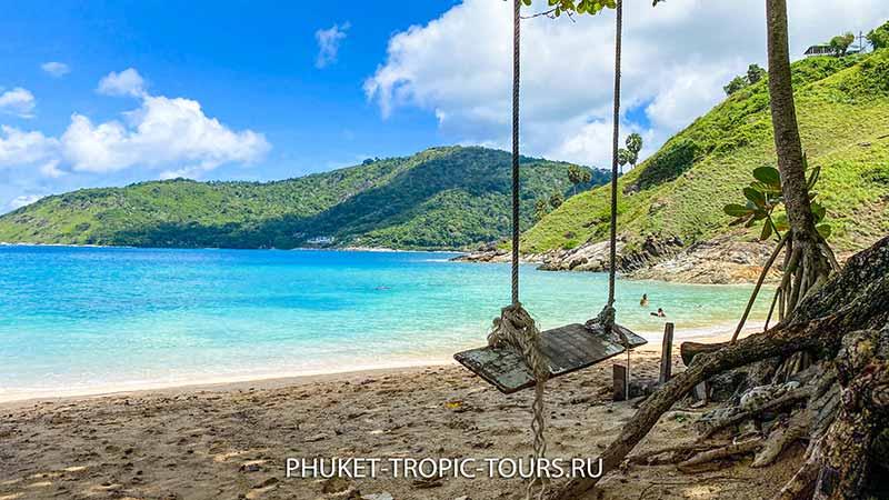 Пляж Януи на Пхукете - качеля фото 12